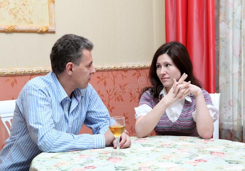 Conflit de couples photos stock