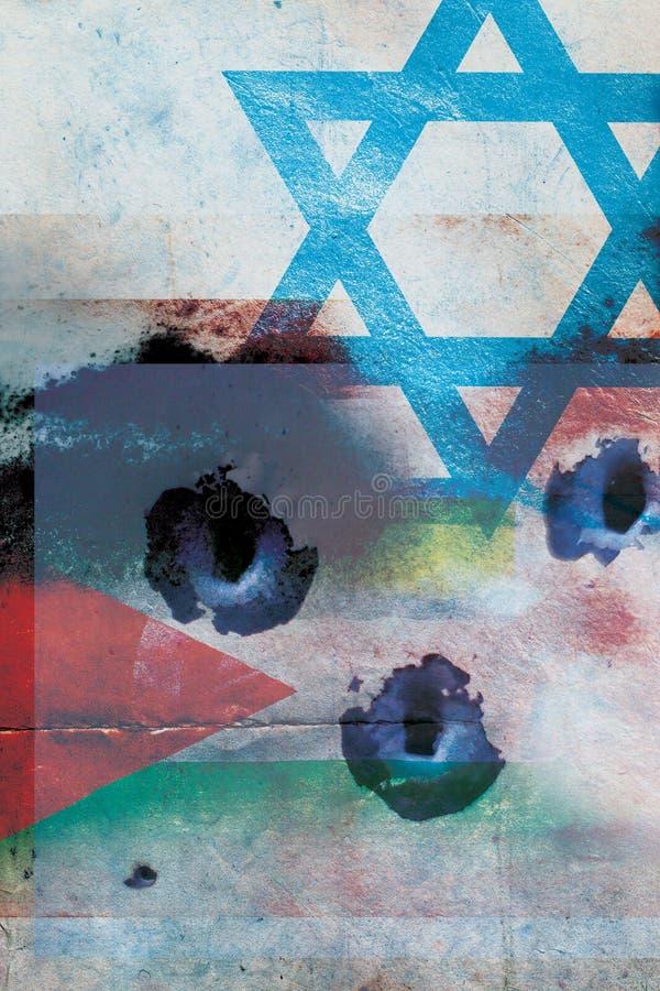 Conflit de l'Israël-Palestine illustration de vecteur