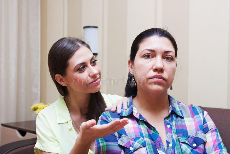 Conflit entre les soeurs image stock
