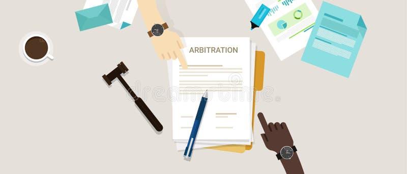 Conflit juridique de résolution de conflit de loi d'arbitrage illustration libre de droits