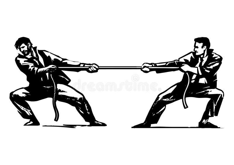 Conflito 2 ilustração stock