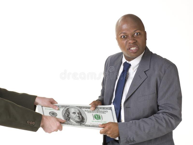 Conflito com dinheiro grande imagens de stock