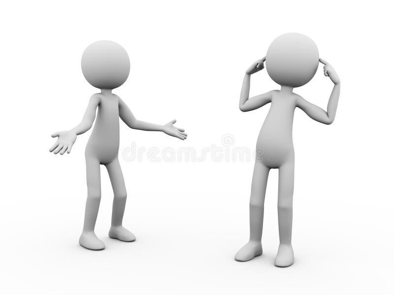 conflito da disputa dos povos 3d ilustração stock
