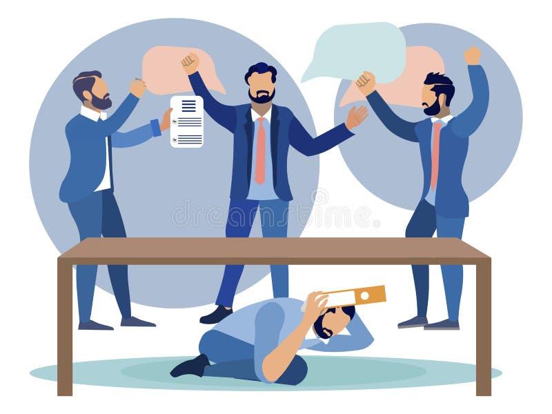 Conflito da disputa na ilustração do vetor da empresa horizontalmente ilustração stock
