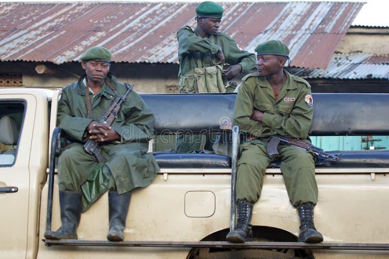 Conflito de Democratic Republic Of The Congo Kivu imagem de stock