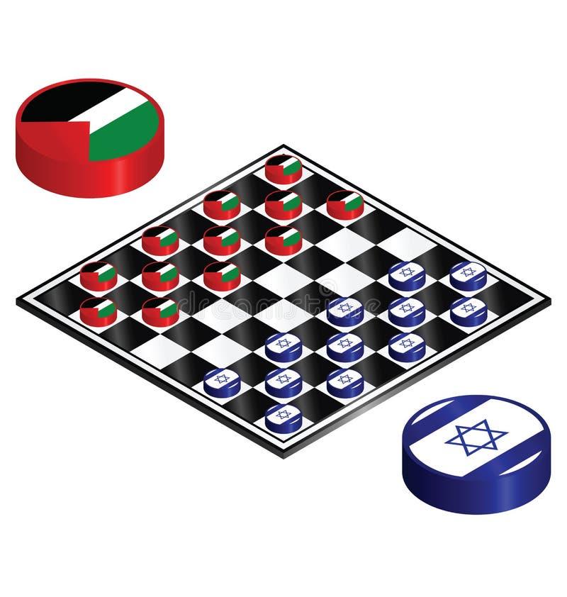 Conflito de Israel Palestina ilustração royalty free