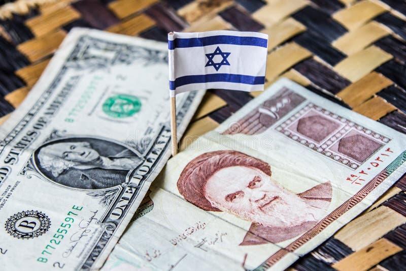 Conflito do Estados Unidos e do Irã fotografia de stock royalty free
