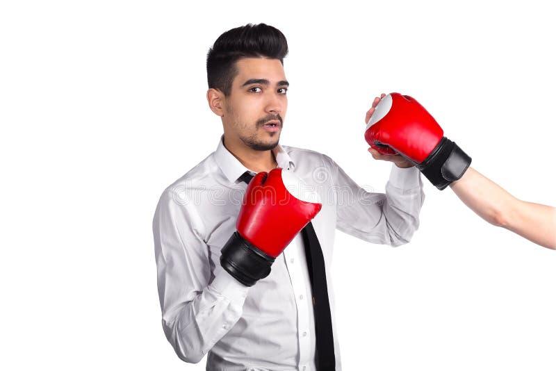 Conflito do negócio, proteção da competição imagem de stock