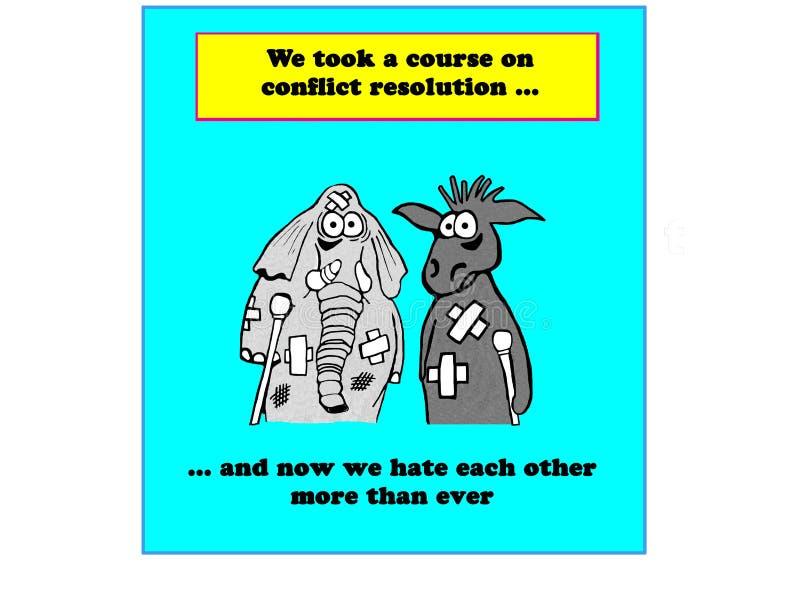 Conflito político ilustração do vetor