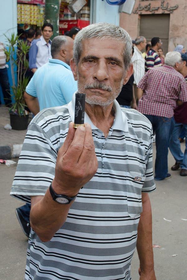 Conflitos entre demonstradores e a fraternidade muçulmana fotos de stock