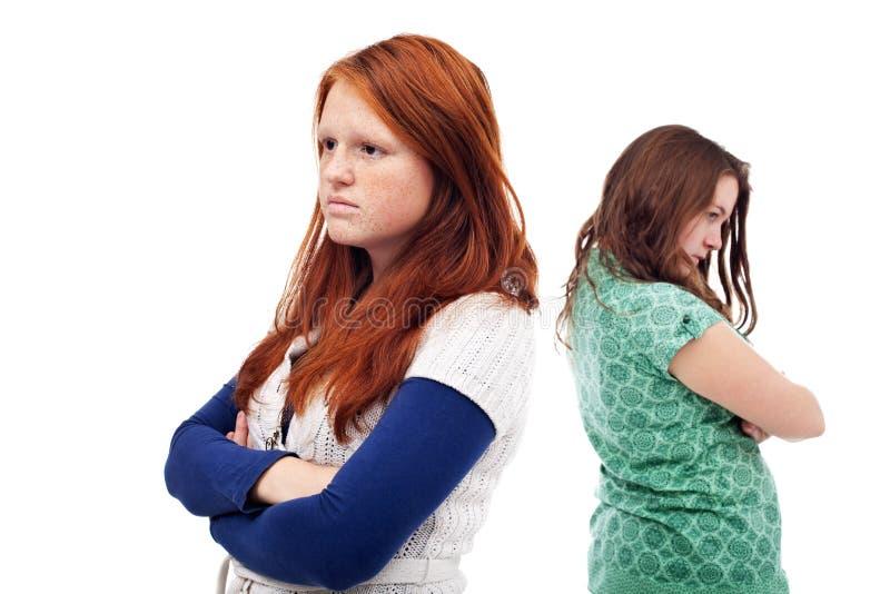 Conflitto degli adolescenti fotografia stock libera da diritti