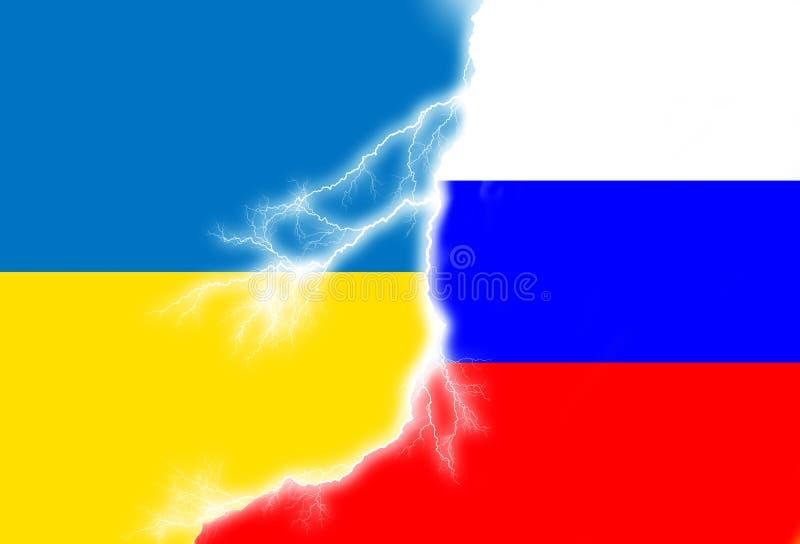 Conflitto ucraino russo illustrazione di stock