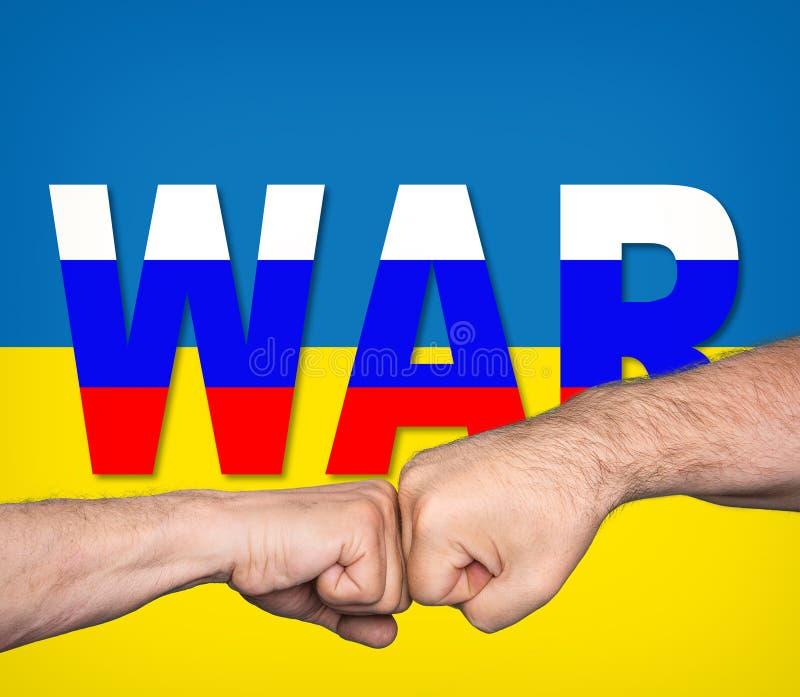 Conflitto ucraino russo illustrazione vettoriale
