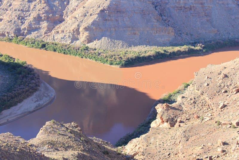 Confluent du Colorado et de la rivière Green images libres de droits