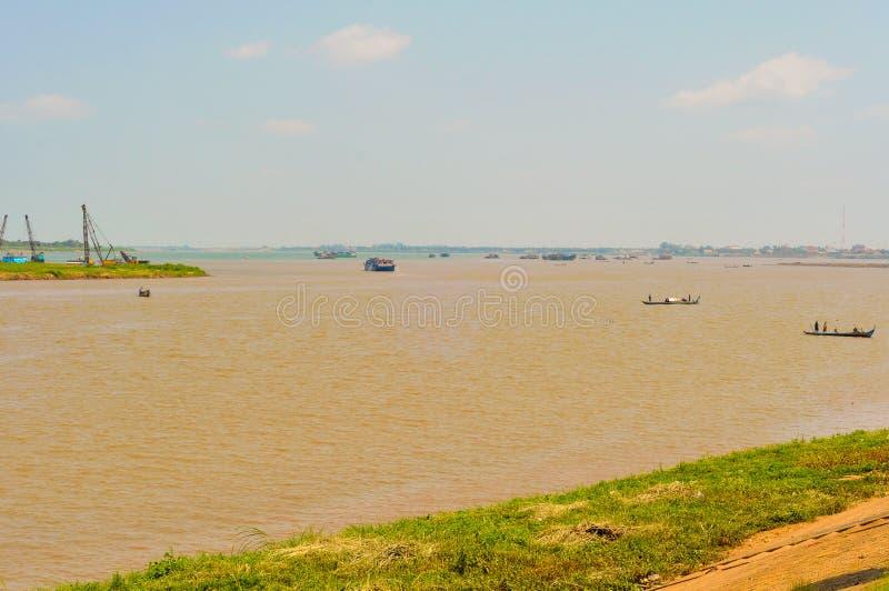 Confluent du Mékong photo stock
