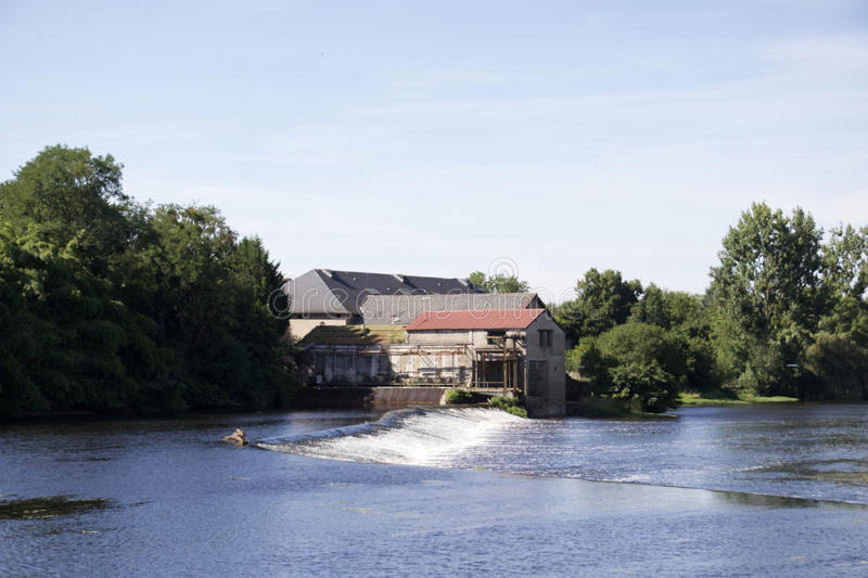 Confolens - France - A old mill by the river royalty free stock photo