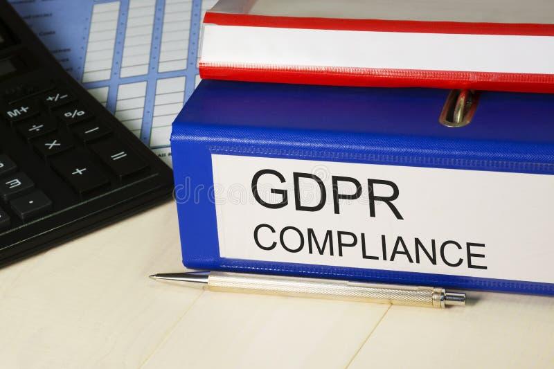 Conformidad de GDPR Regulación general de la protección de datos - 25 de mayo de 2018 Seguridad personal de los datos, aislamient foto de archivo