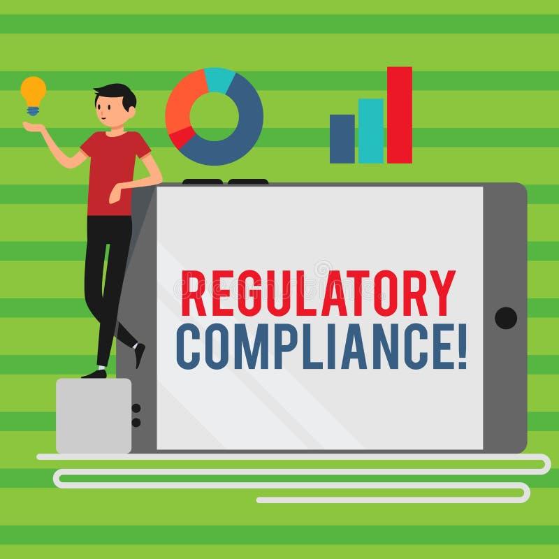 Conformidad reguladora del texto de la escritura de la palabra El concepto del negocio para la organización s es adherencia a la stock de ilustración