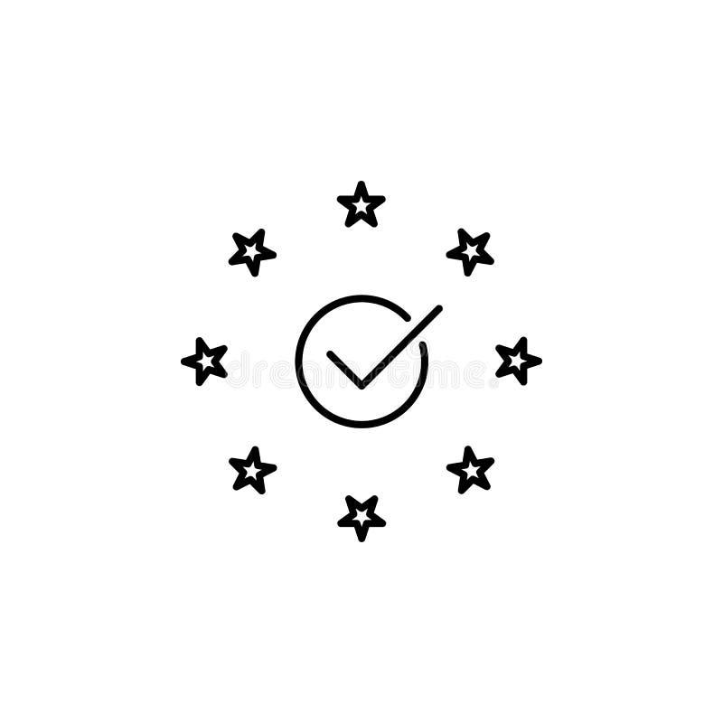 Conformidade, ícone do eu O elemento de dados gerais projeta o ícone para apps móveis do conceito e da Web A linha fina conformid ilustração royalty free