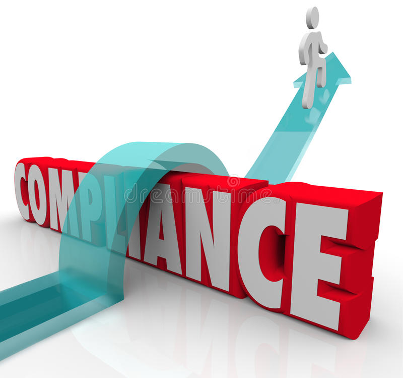 Conformidade Person Jumping Rules Regulations ilustração royalty free