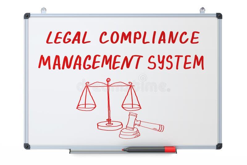 Conformità legale, concetto di sistema di gestione sul erase asciutto illustrazione vettoriale