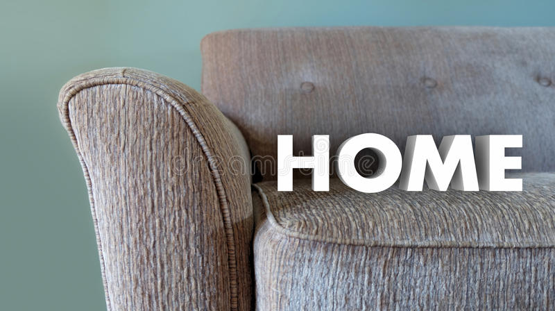 Confort vivant de Word de famille à la maison de divan illustration stock