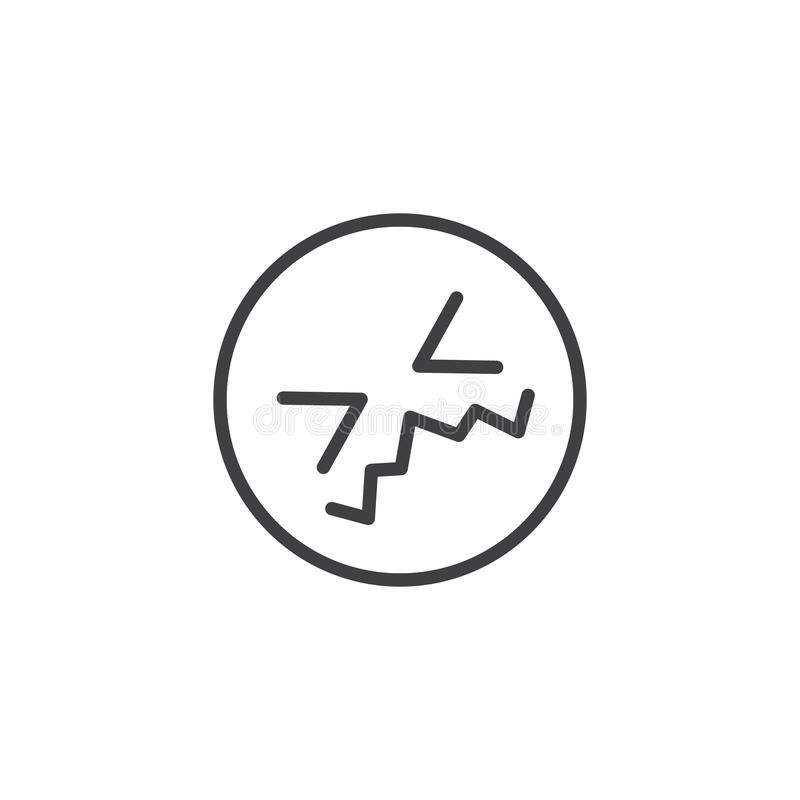 Confounded Face Emoji line icon. Linear style sign for mobile concept and web design. Confused face emoticon outline vector icon. Symbol, logo illustration stock illustration