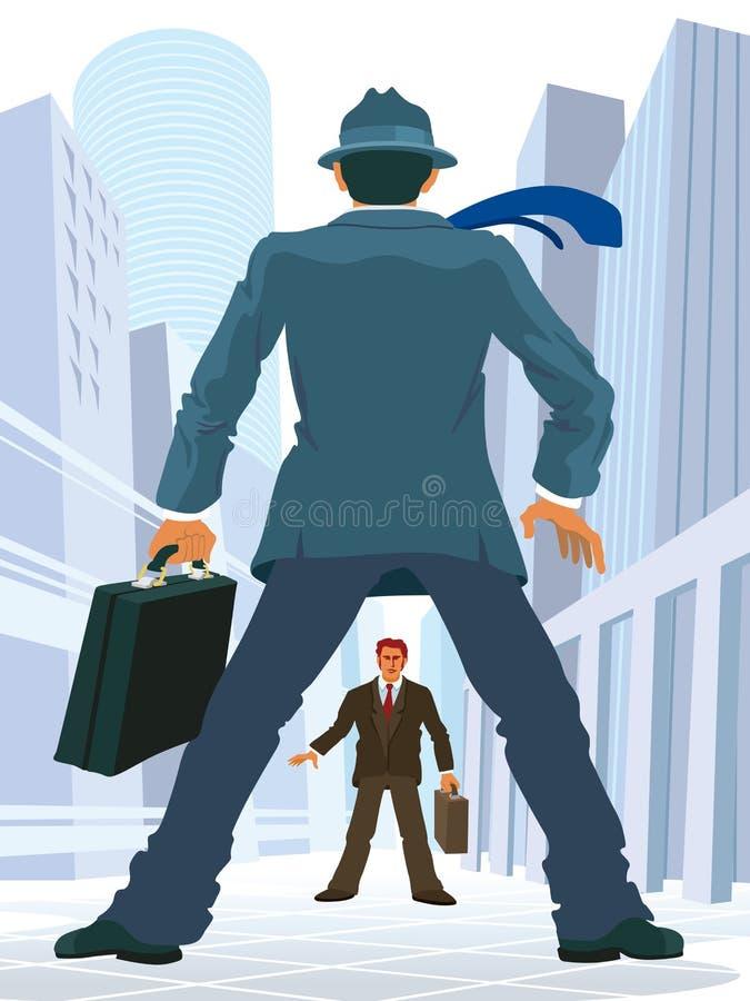 Confrontação do negócio ilustração royalty free