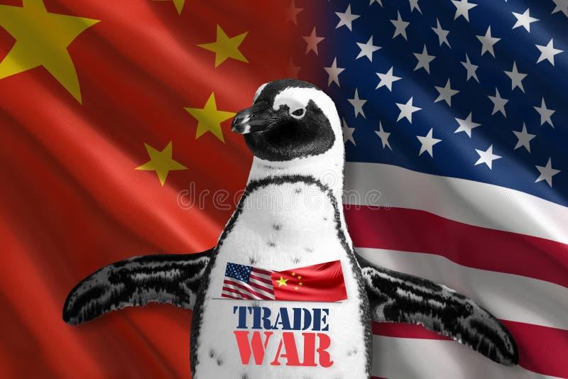 Confrontación de América y de China fotografía de archivo