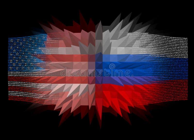Confrontación entre los E.E.U.U. y la Rusia foto de archivo libre de regalías
