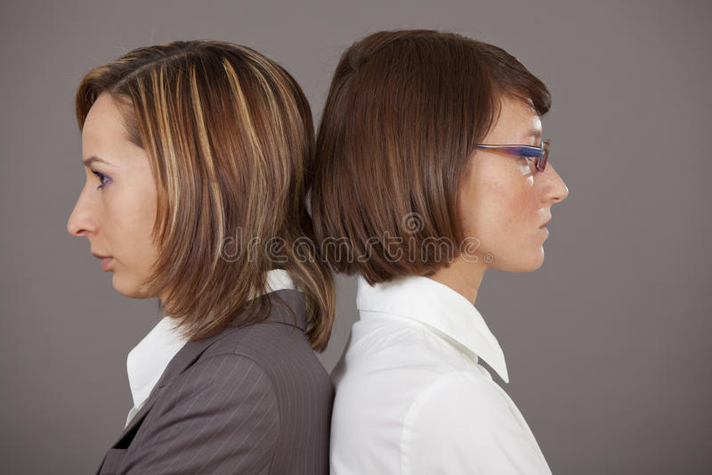 Confrontatie stock foto