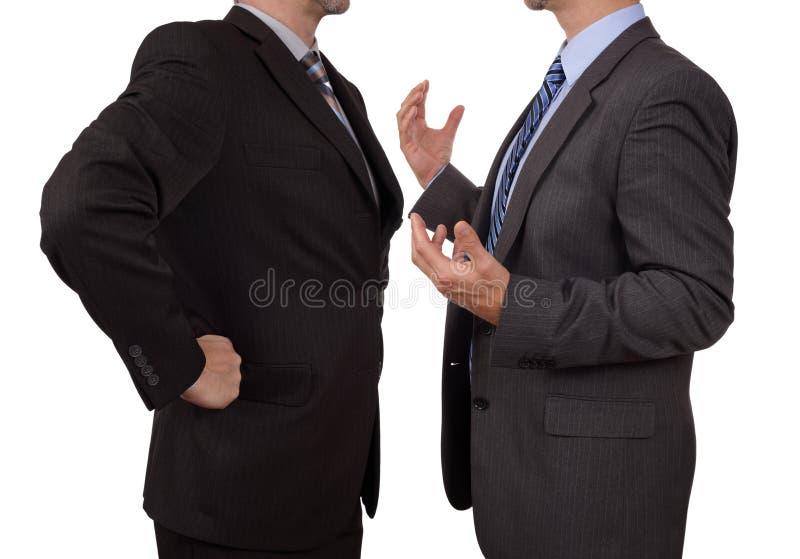Confrontatie op het werk stock foto