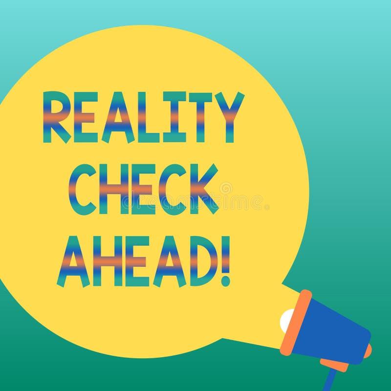 Confrontation avec la réalité d'écriture des textes d'écriture en avant La signification de concept les fait identifier la vérité illustration stock