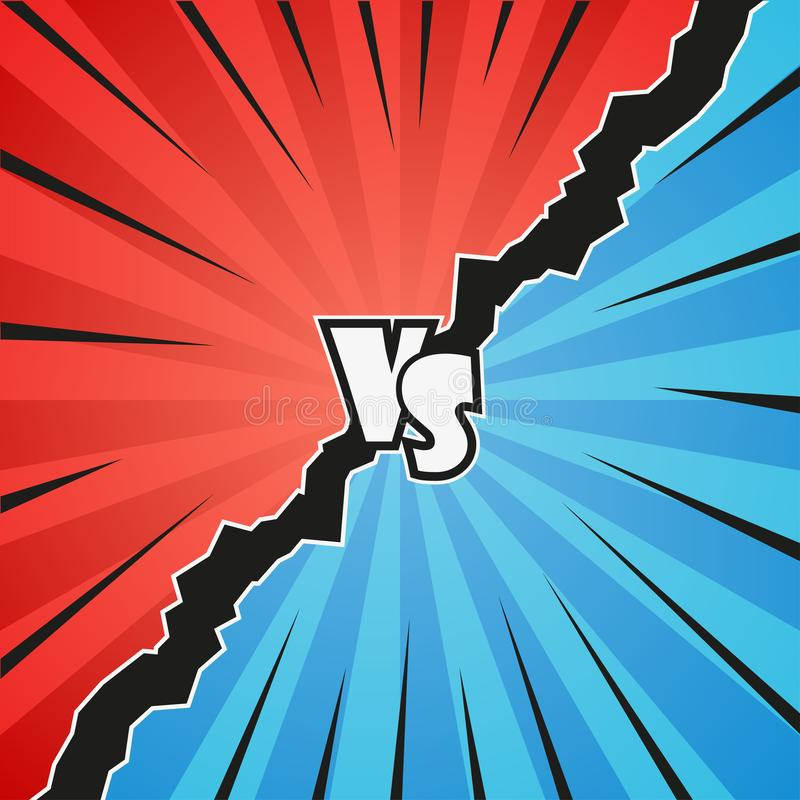 Confrontation comic background in pop art style royalty free illustration