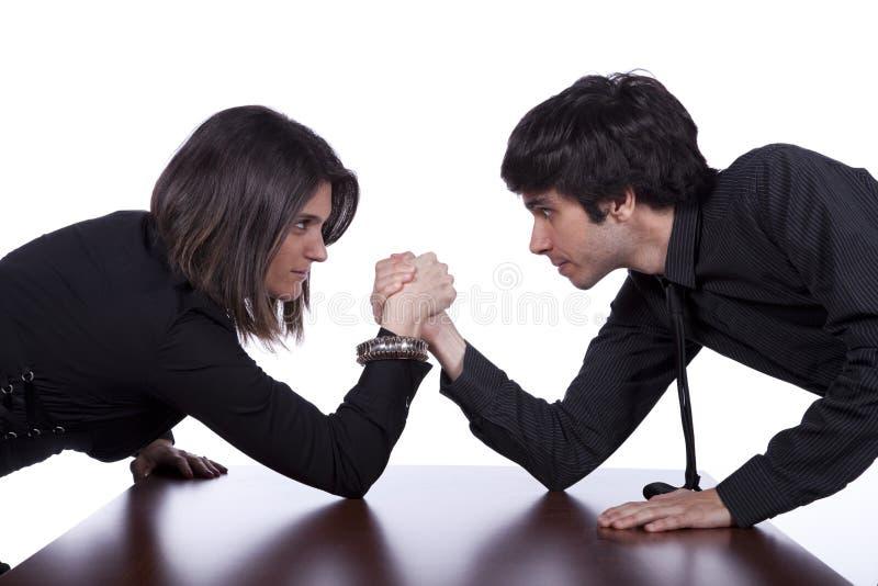 Confrontation d'équipe image stock