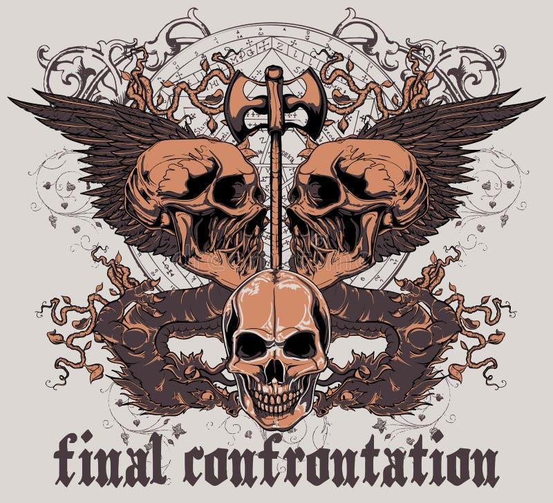 Confrontation finale illustration de vecteur