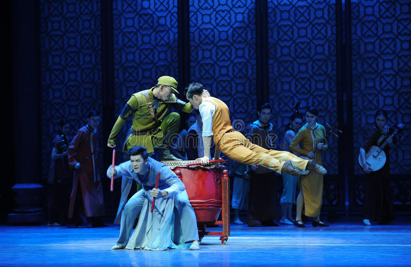 Confrontation-The third act of dance drama-Shawan events of the past. Guangdong Shawan Town is the hometown of ballet music, the past focuses on the historical stock photography