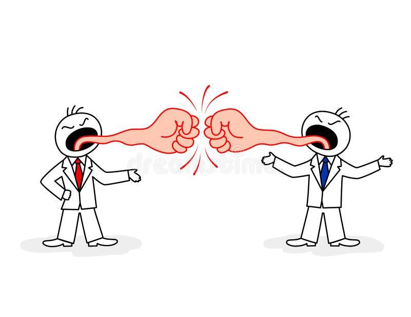 Confrontation verbale illustration stock