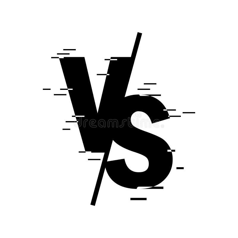Confrontato allo schermo CONTRO fondo astratto Contro il logo contro le lettere per gli sport e la anti-concorrenza Illustrazione royalty illustrazione gratis