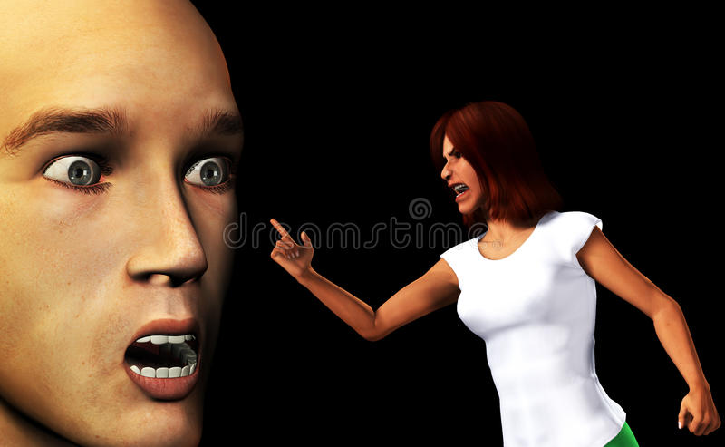 Download Confronted By An Angry Women Stock Illustration - Image: 10953317