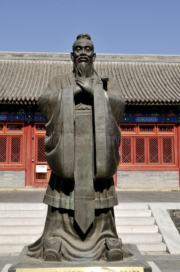 Confucian statue. ,Chinese tradition culture stock photos