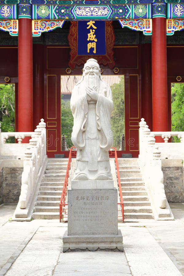 Confucian temple. Entrance to ancient Confucian temple at Beijing, China stock photography