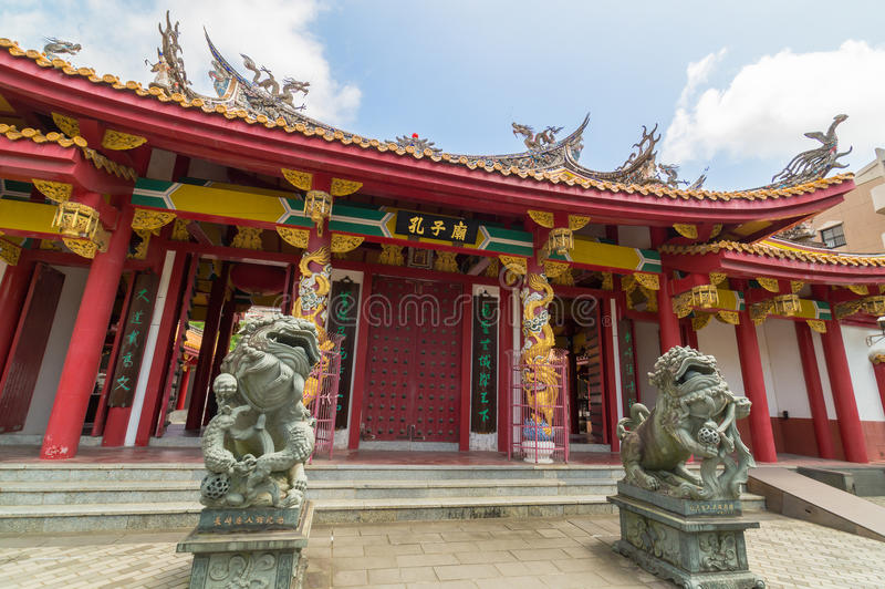Confucian Temple in Nagasaki, Japan. Confucian temple is a temple devoted to the memory of Confucius. Confucius Temple in Nagasaki, Japan is the worlds only royalty free stock images