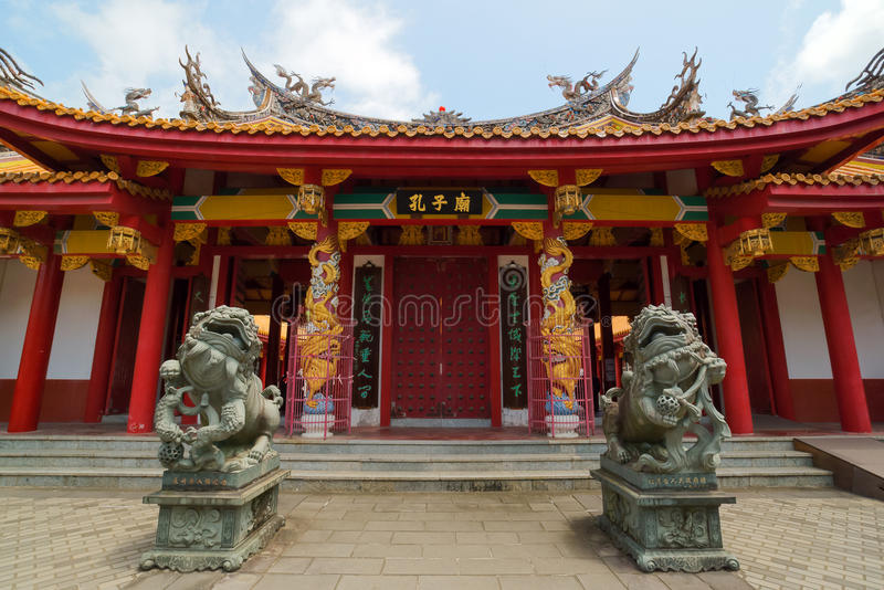 Confucian Temple in Nagasaki, Japan. It's a temple devoted to the memory of Confucius. Confucius Temple in Nagasaki, Japan is the worlds only Confucian temple royalty free stock photography