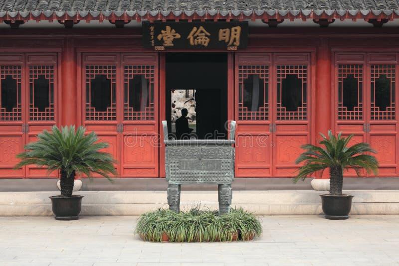 Confucian Temple Shanghai. Confucian Temple (Wen Miao), Shanghai China royalty free stock photo