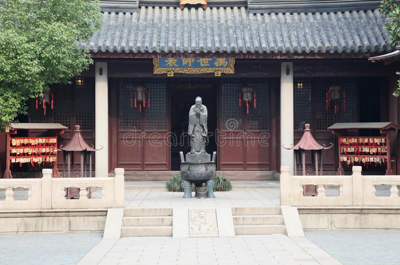 Confucian Temple in Shanghai. Confucian Temple (Wen Miao) in Shanghai China royalty free stock image