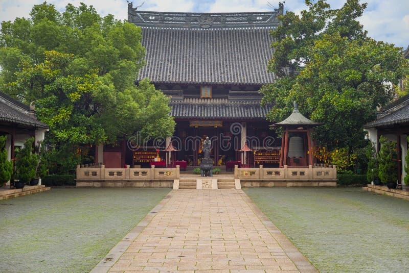 Confucian Temple, in Shanghai, China. Wen Miao, Confucian Temple, in Shanghai, China stock photos