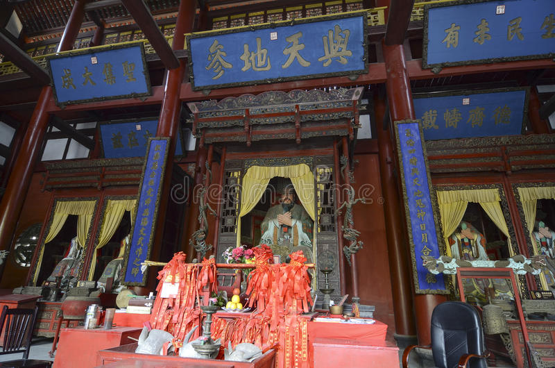 Confucian Temple in Sichuan. Confucian Temple (Wen Miao) in Sichuan, China royalty free stock images