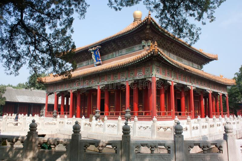 Confucian temple. View of ancient Confucian temple - there is one of the best temples in Beijing, china royalty free stock images