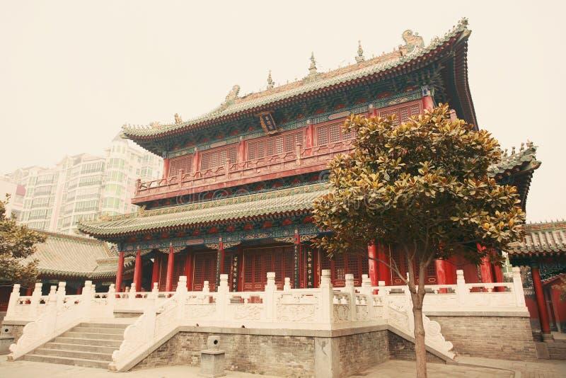 Confucious& x27; tempel in Zhengzhou royalty-vrije stock foto